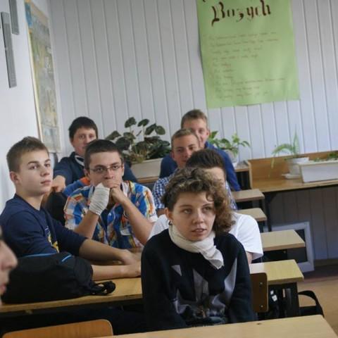 Spotkanie z młodzieżą w Dąbrowie Białostockiej